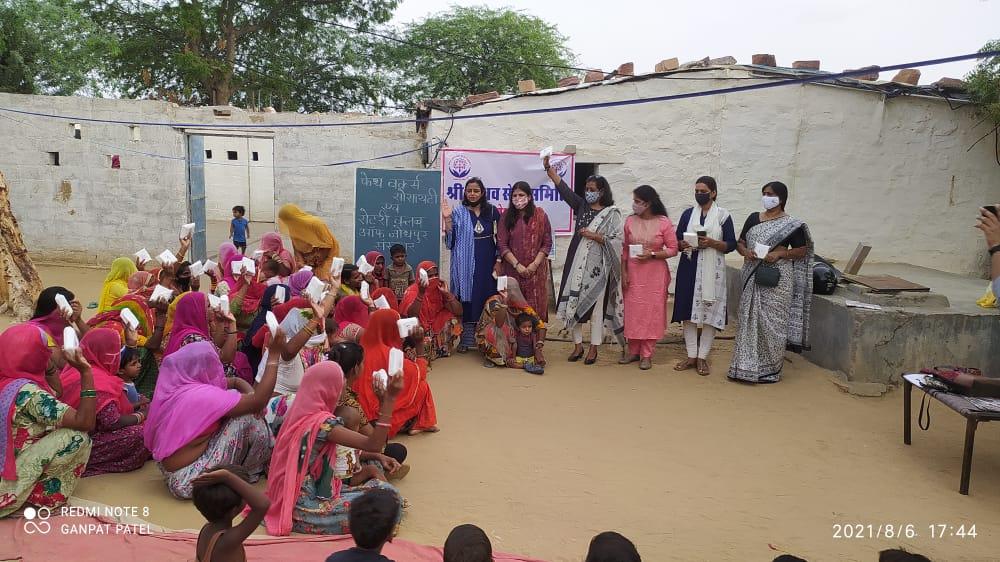 "Distribution of free sanitary pads by ""Faith Works Society"" and ""Rotary Club Jodhpur Sanskar"""